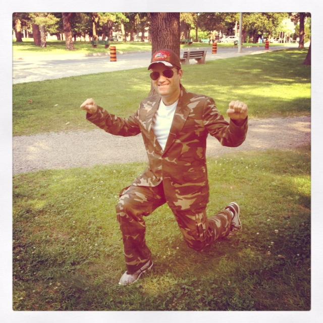 more of Drake's incredible camo suit worn at 2014 semi formal Bootcamp