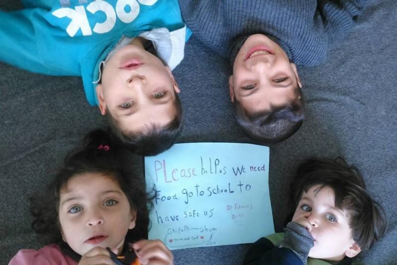 Ramira's kids: Mohammed (11), Ghiyath (10), Sham (3) , Zein (2),